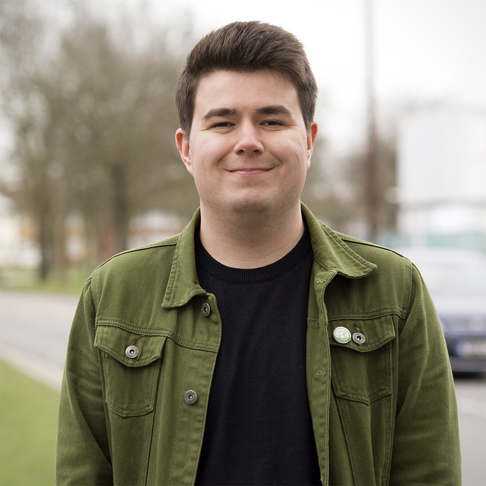 Oli Thorn is the Green Party candidate for St Laurence