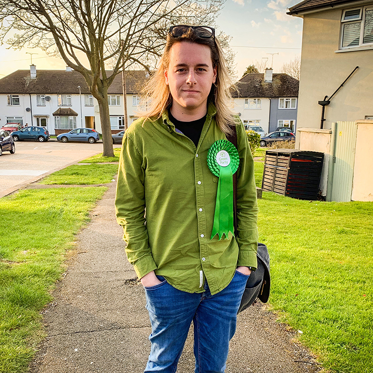 James Vessey-Miller is the Green Party candidate for Chalkwell.